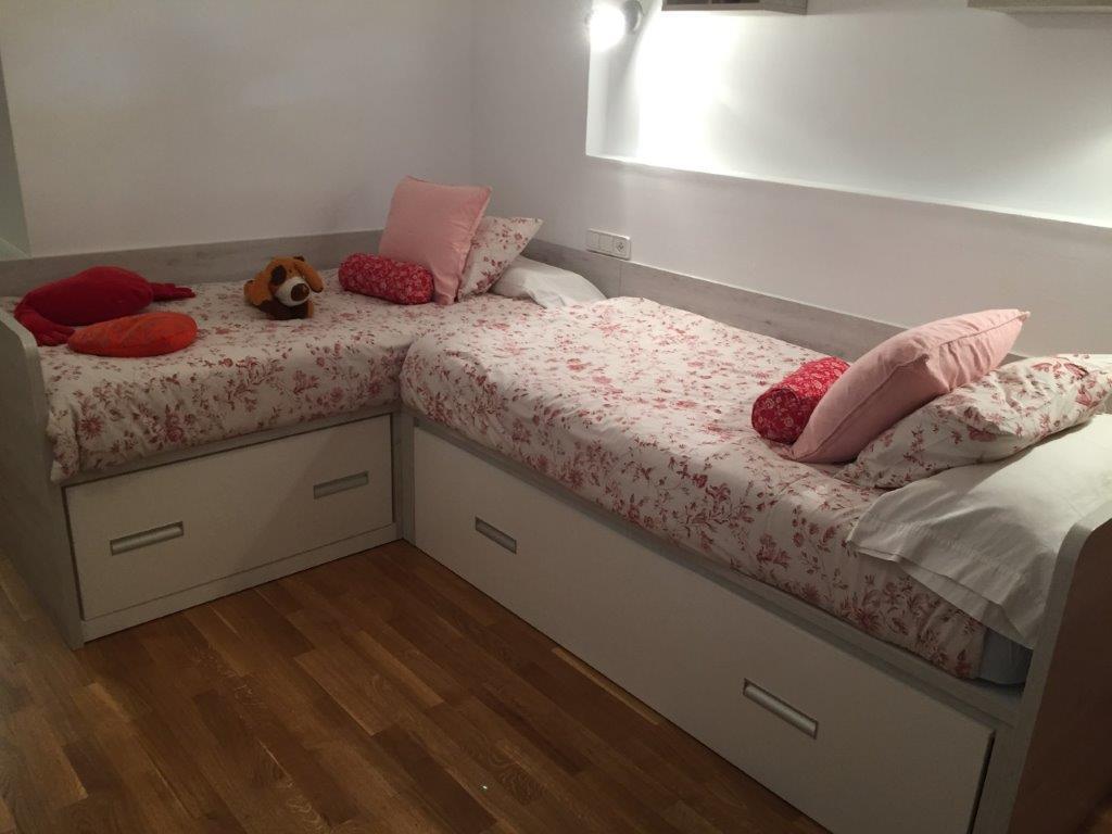 Dormitori Juvenil en laminat Roure Mozart i Blanc